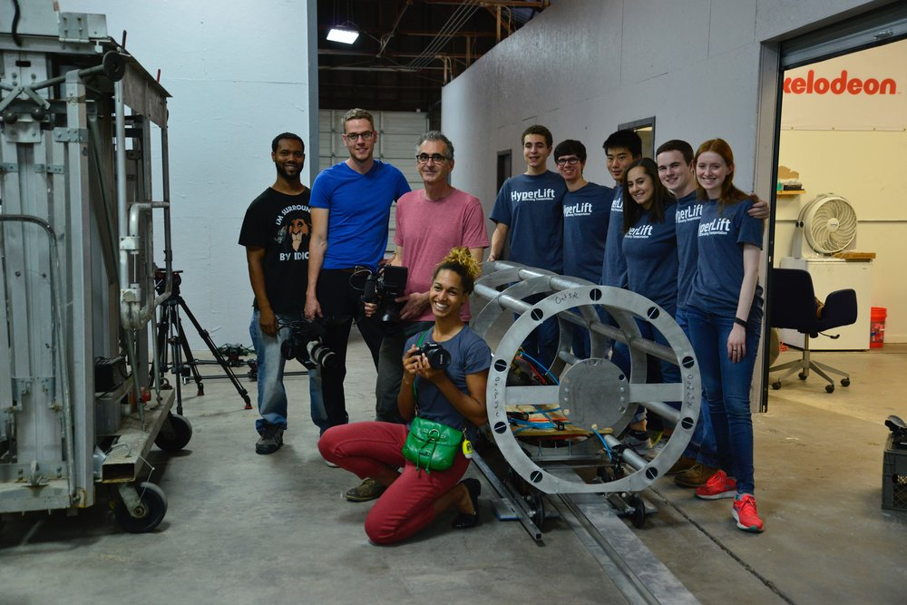 Team HyperLift with the Film Crew from the History Channel